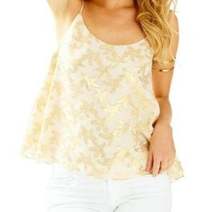 Lilly Pulitzer Graycee Top in Oyster Shell